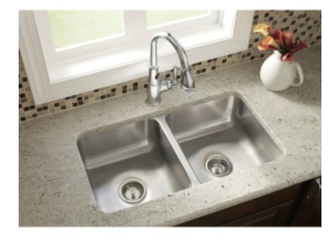 """Moen 2000 Series 31-1/4"""" Double Basin Undermount Kitchen Sink, $224.25"""