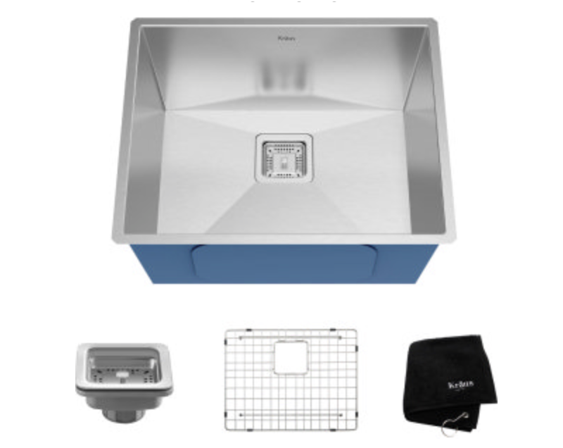 "Kraus Pax 22-1/2"" Single Basin Undermount Kitchen Sink"