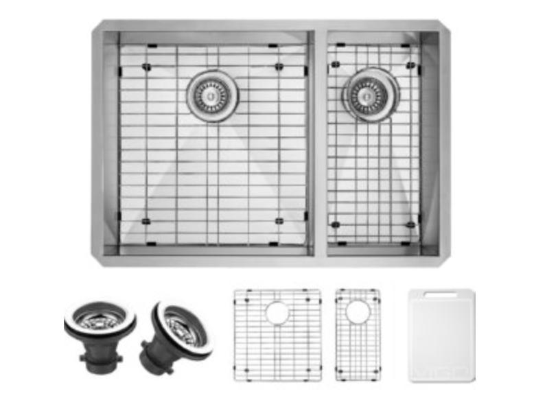 "VIGO Industries Universal 29"" Double Basin Undermount Kitchen Sink, $297.90"