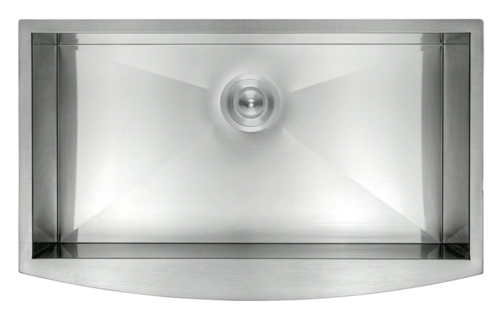 """AKDY 33"""" x 22"""" Farmhouse Kitchen Sink with Dish Grid and Drain Strainer Kit, $233.99"""