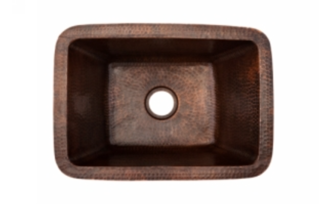 "Premier Copper Products Universal 17"" Single Basin Dual Mount Bar/Prep Sink"