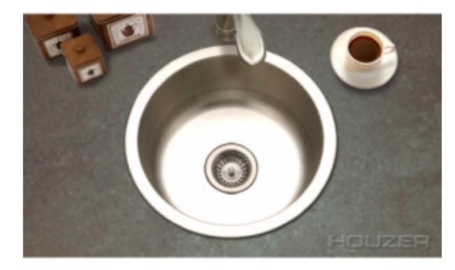 "Houzer Hospitality 17-1/2"" Single Basin Drop-In Bar/Prep Sink, $167.86"