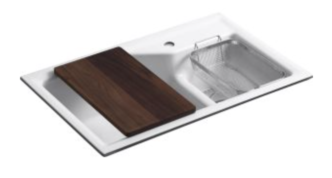 "Kohler Indio 33"" Double Basin Undermount Kitchen Sink"