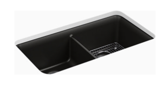 "Kohler Cairn 33-1/2"" Double Basin Undermount Kitchen Sink"