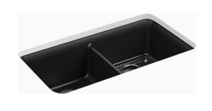 """Kohler Cairn 33-1/2"""" Double Basin Undermount Kitchen Sink"""