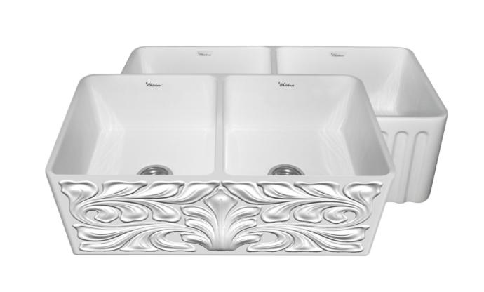 "Whitehaus Gothichaus 33"" Double Basin Apron Front Kitchen Sink"