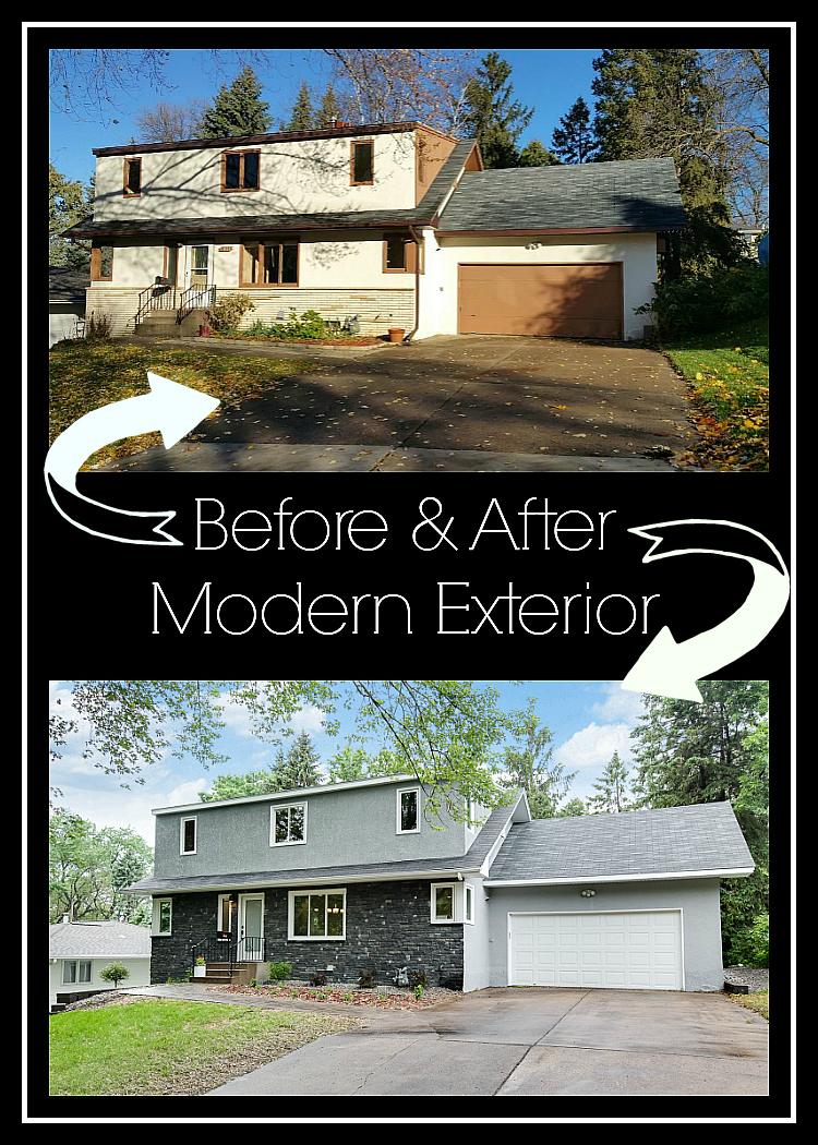 Before and after modern exterior
