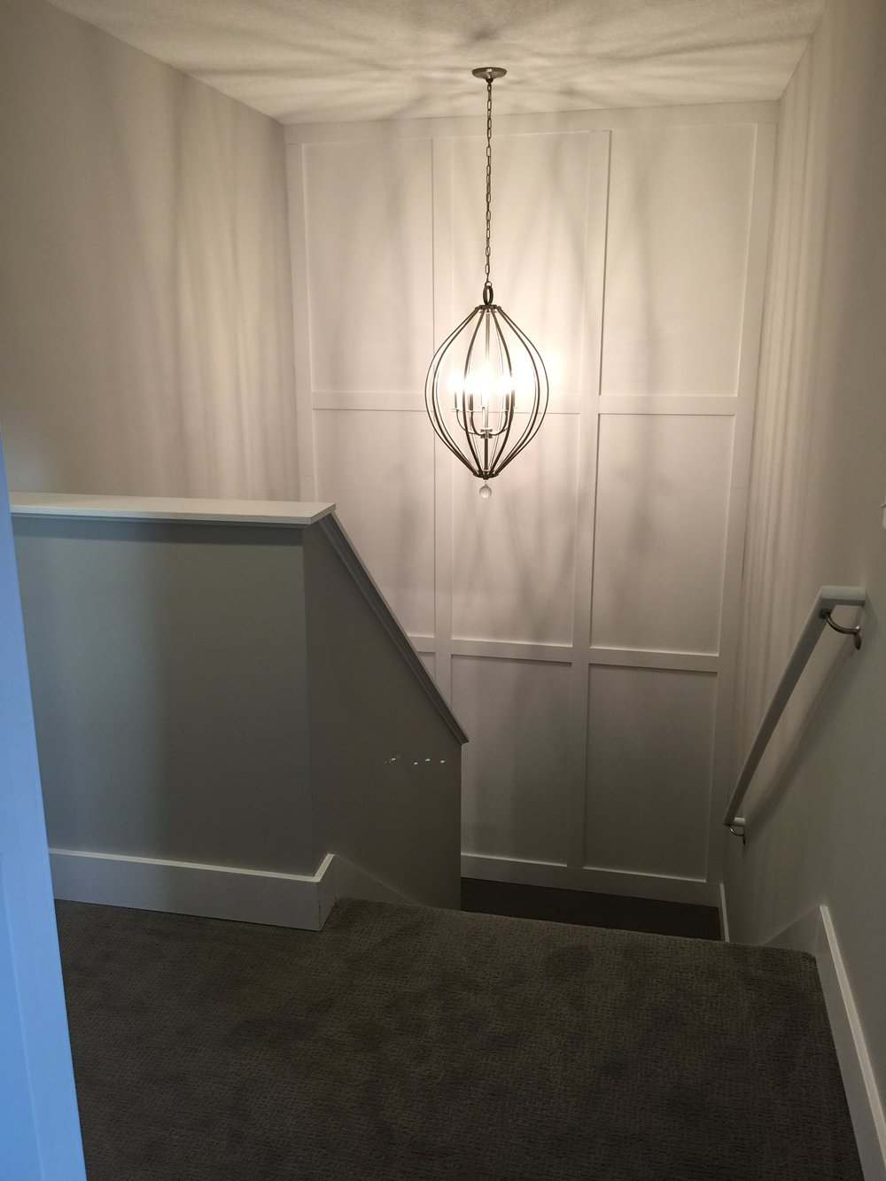 white enameled board and batten accent wall