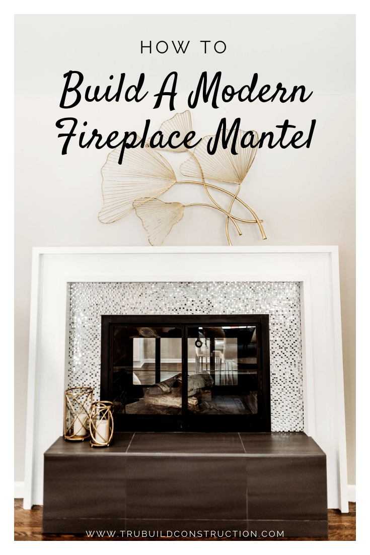 How to Build a Modern Fireplace Mantel - Our step-by-step guide to DIY this custom, modern fireplace mantel, including our tips and tricks to get the job done right!