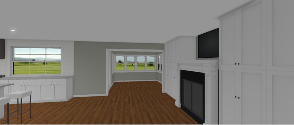 3D RENDERING OF SUGGESTED FLOOR PLAN