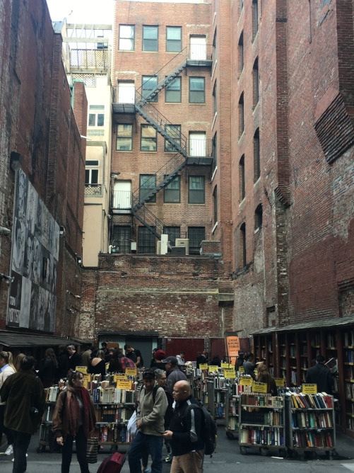 Brattle Book Shop was my favorite! Boston is a great city for buying books on the cheap. I walked away with 5 books for less than $20. Never have I ever been able to do that!