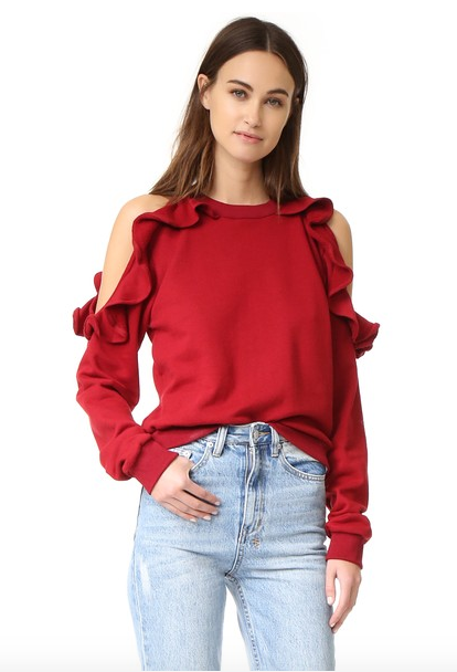 RUFFLE-SLEEVE-TOP