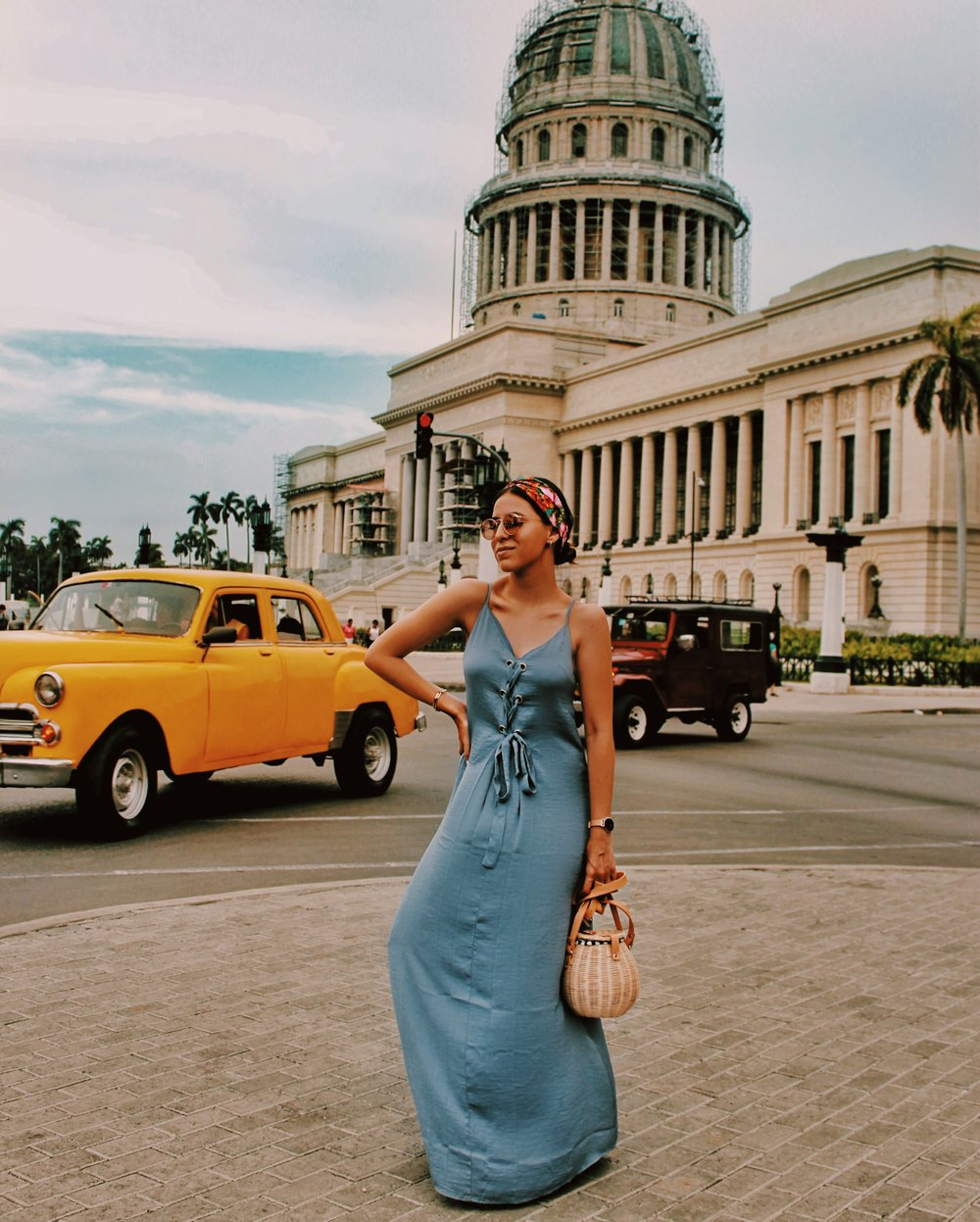long-blue-dress-forever-21-cuba-style
