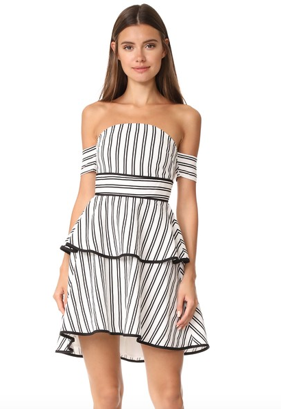 STRIPES-OFF-THE-SHOULDER-DRESS