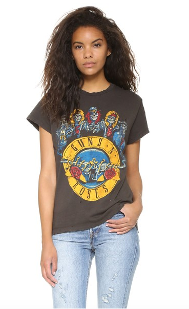 Click to shop via Shopbop   MADEWORN ROCK   Guns N' Roses Tee $160.00