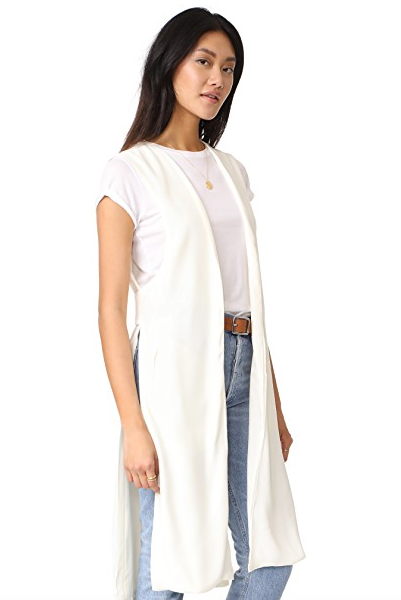 Click to shop via Shopbop   cupcakes and cashmere   Baylor Split Side Vest | $120.00