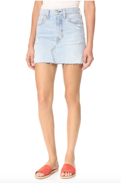Click to shop via Shopbop   Levi's   Deconstructed Skirt | $69.50