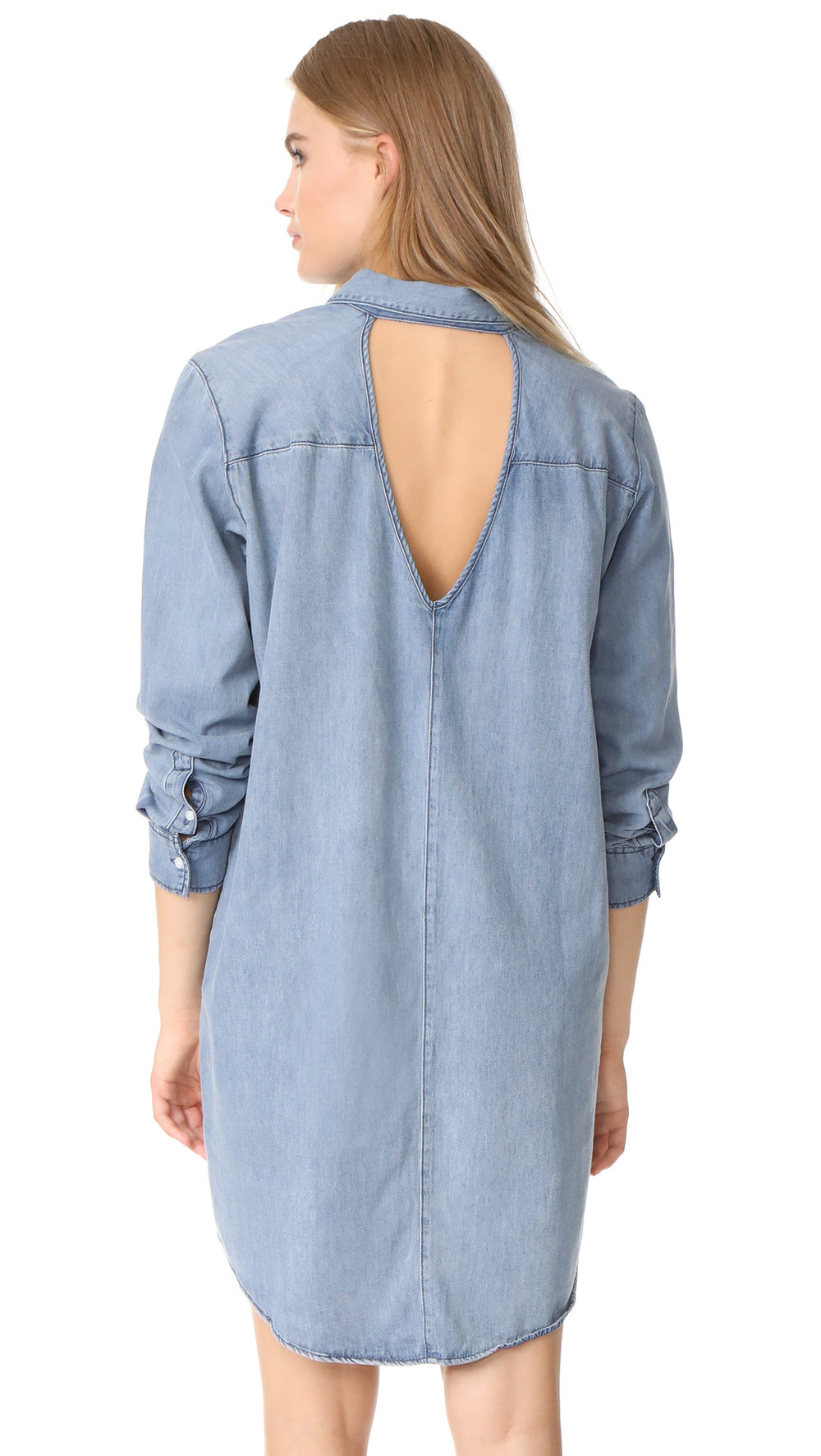 THIS ONE IS A MUST, THIS DENIM DRESS WILL GET YOU THROUGH ANY OUTFIT FOR A LAZY DAY.