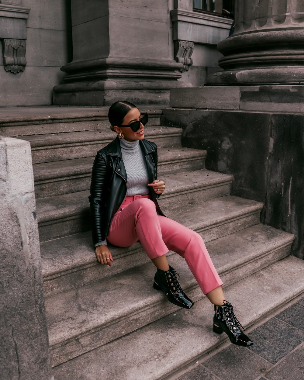 pink pants outfit streetstyle.JPG