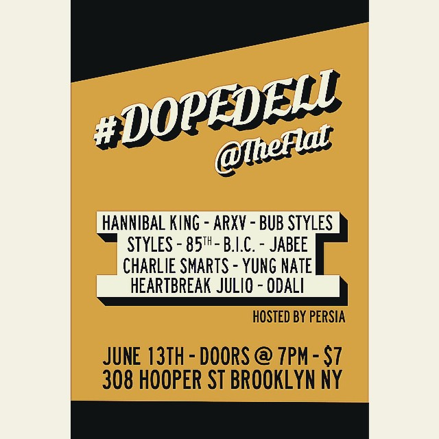 The homie @mynameisjabee got a show in Brooklyn soon. Charlie gonna spit some. Come thru. #brooklyn #shows #flyer #kooleyhigh