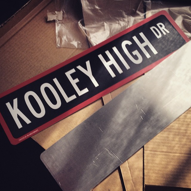 Metal Workings from the homie @lankstonhues #kooleyhigh #kooleyishigh #streetsigns