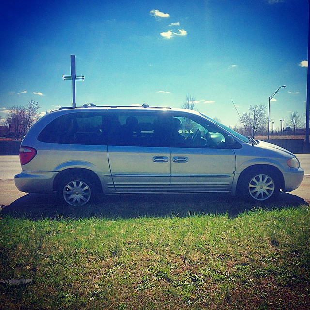 Driving on I-40 in NC and caught a flat in my mommas van…  GOOD KID BAD TIRES.  #kooleytravels #albumcovers #kendricklamar #kooleyishigh #TireIsLow