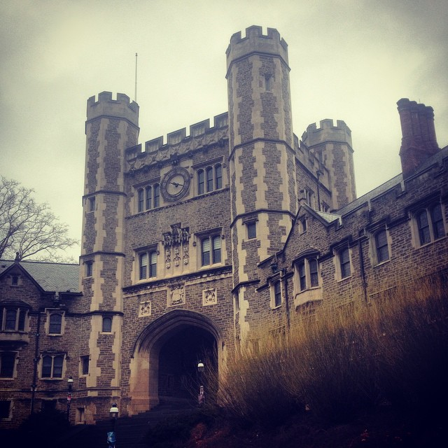 Strolling thru Princeton.