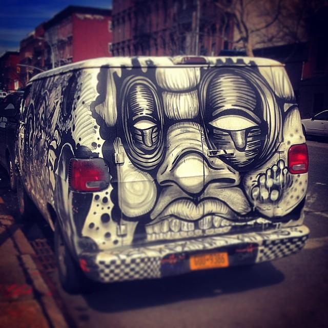 Here's looking at you kid. #brooklyn #streetart #vans