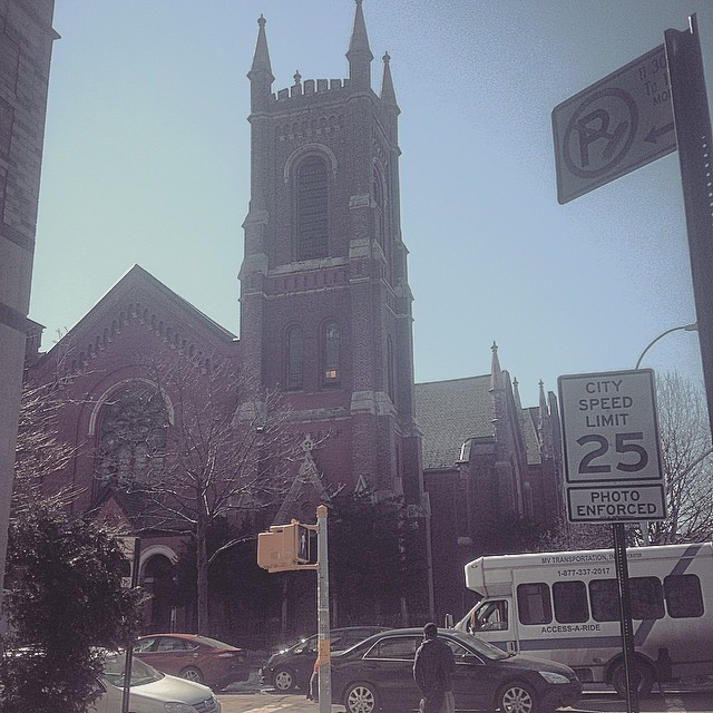 Like a block or so away from where biggie grew up… I wonder if this was the church where he was laid to rest. #bedstuy #brooklyn #RIPBiggie #Goat