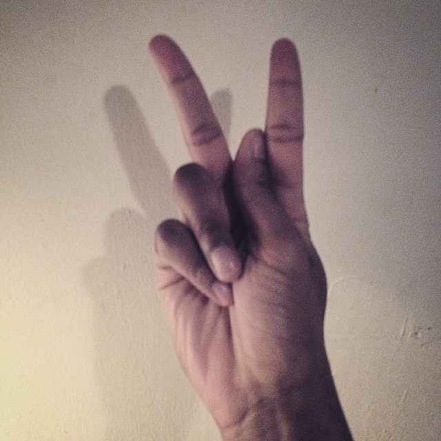 The K in Sign Language looks like Peace. That's what we all about, and how we end every show. #kooleyhigh #raleigh #Brooklyn #peace #signlanguage