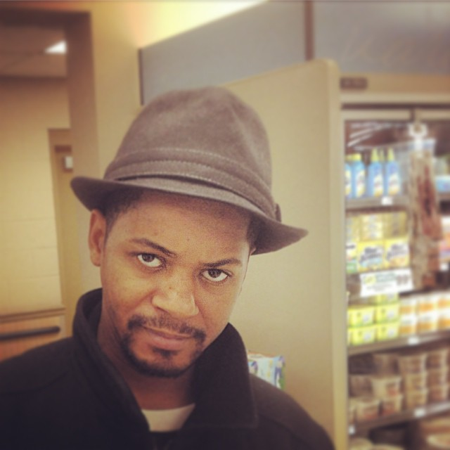 "Charlie's Older brother BLU has played Sax on many Kooley Classics like ""Somethin Outta Nothin"".  This is him shopping for breakfast at Food Lion.  #kooleyishigh  #shopping #kooleyishungry #family #greensboro #northcarolina #ThatHatIsTooBig"