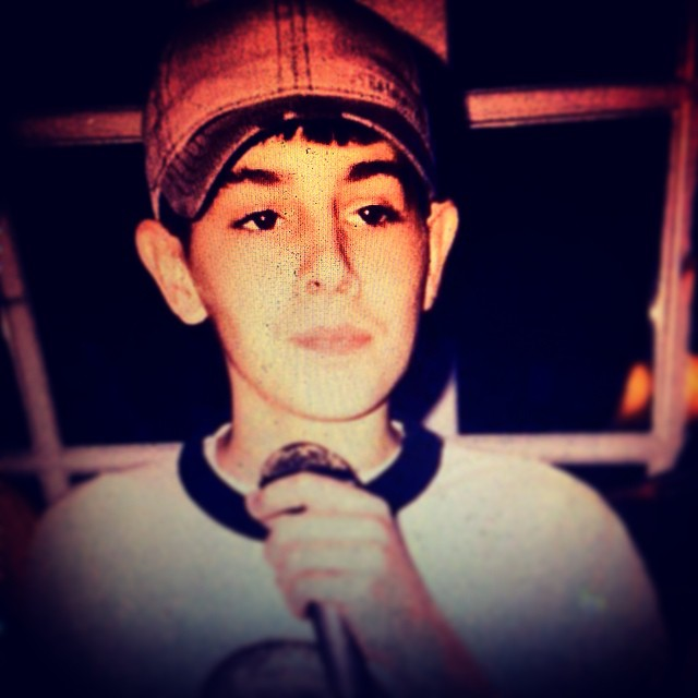 Young Tab-One.  Rocking the mic in '94.  Cray.  #kooleyhigh #raleigh  #mics #amick