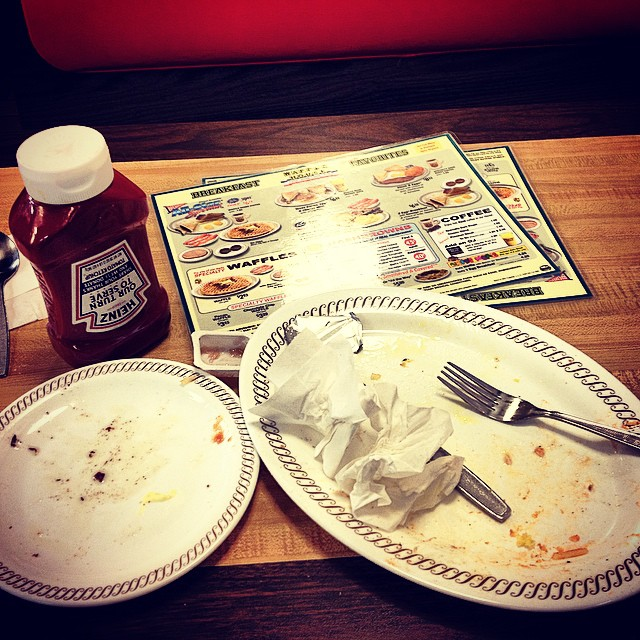 Oh Waffle House??   I does this.