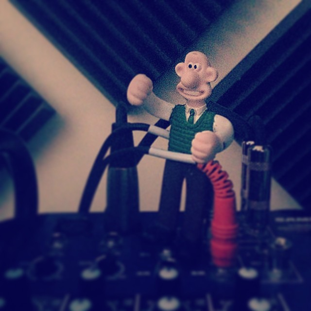 Up in @thesinopsis Studio with the homie Wallace. #Raleigh #kooleyhigh #sincity #NC #mixey #wallaceandgromit