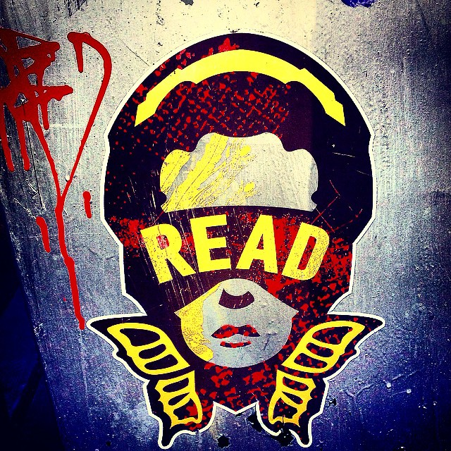 Imma read imma Read Imma Read. Word to Zebra Katz. #brooklyn #streetart #ouchere