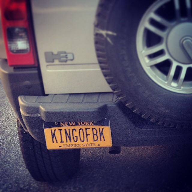 Maybe it's me, but I don't think the king of Brooklyn would drive an H3.  #brooklyn #countyofkings #plates #ny #huh