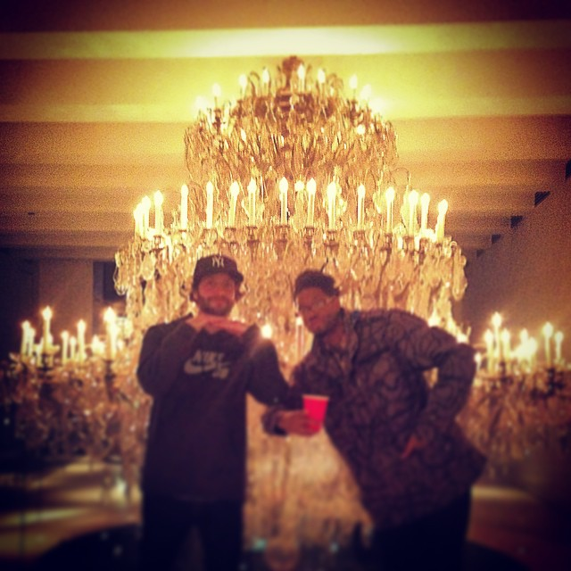 Chandelier from the ceiling to the floor. #baller #undisclosedlocations #kooleyishigh #newyork #up #swaggish