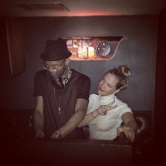 The homies @clairehugstable and @kds_of_ballerseve whilest I dance to Chaka Khan. #brooklyn #djs #ballerseve #kooleyisdrunk #digitzbday #latergram