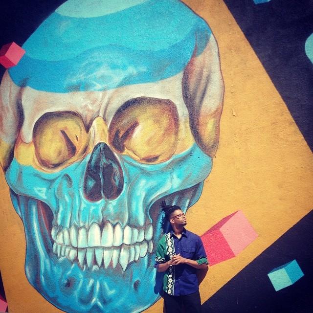Say Cheese. #LosAngeles #kooleyishigh #streetart #skulls