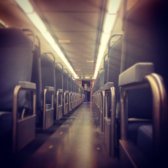 Alone on the train on the way to New Jersey.  #travelingman