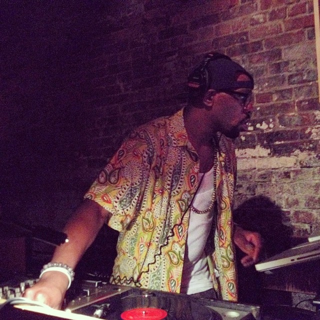 DJ Nick Speed repping for Detroit in here. #brooklyn #nickspeed #bruisers #kooleyishigh #williamsburg #thewoods