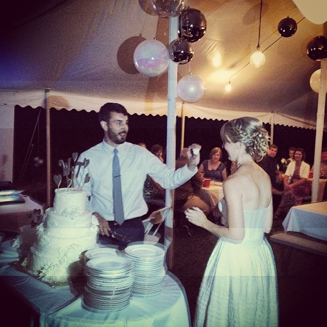 Tab-One put a ring on it.  #bigday4whitandtay #damascus #wedding #kooleyismarried #virginiaisforlovers #latergram #igers
