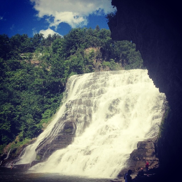 Couldn't stick to the rivers and the lakes that I used to. #ithacafalls #upstate #newyork