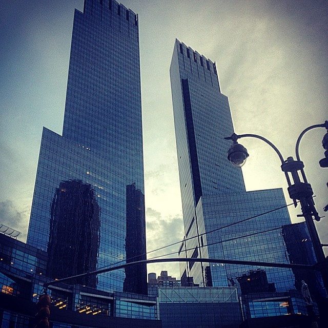Columbus Circle before this Little Dragon show.   #nyc #buildings #kooleyishigh