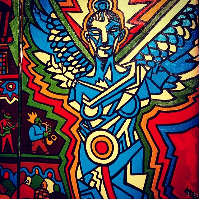 Angels in these streets.  #brooklyn  # streetart #kooleyishigh #movethatdope