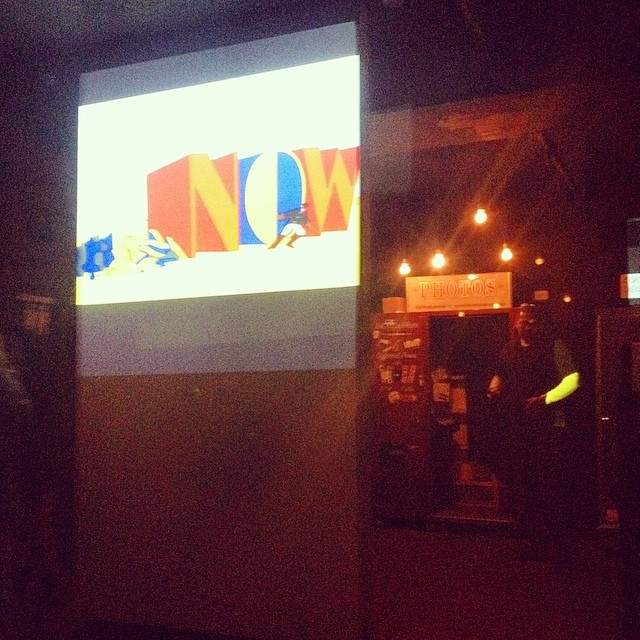 We up in Gallery Bar getting right.   Playing a little Yellow Submarine on the screen and what not.  #NYC #Kooley