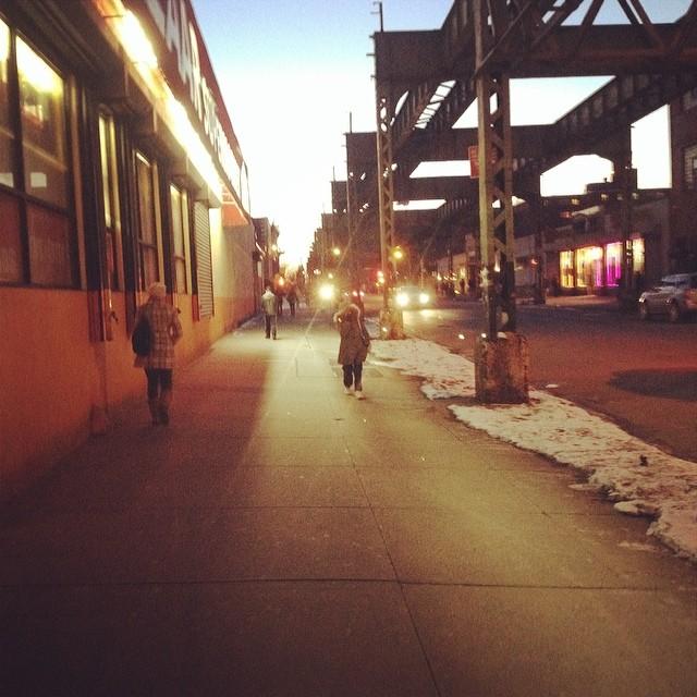 Finally off work in Brooklyn.