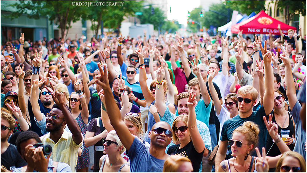 A view of the crowd during Kooley High's Hopscotch Performance