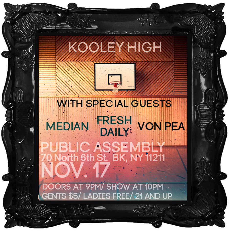 aliceandolivia: NY MOMENT Get ready to dance this Thursday night at the Kooley High show with special DJ guests. If you haven't heard – Kooley High is a Brooklyn-based hip hop group from NC. With collaborations with artists such as 9th Wonder and Cesar Comanche, this group is surely making its way in the hip hop world. With a new album (David Thompson) dropping December 6th – there are sure to be some fun new songs and surprises. This is guaranteed to be a dance party, so get your dancing shoes ready and prepare to be highly entertained – Kooley style. Find out more here.