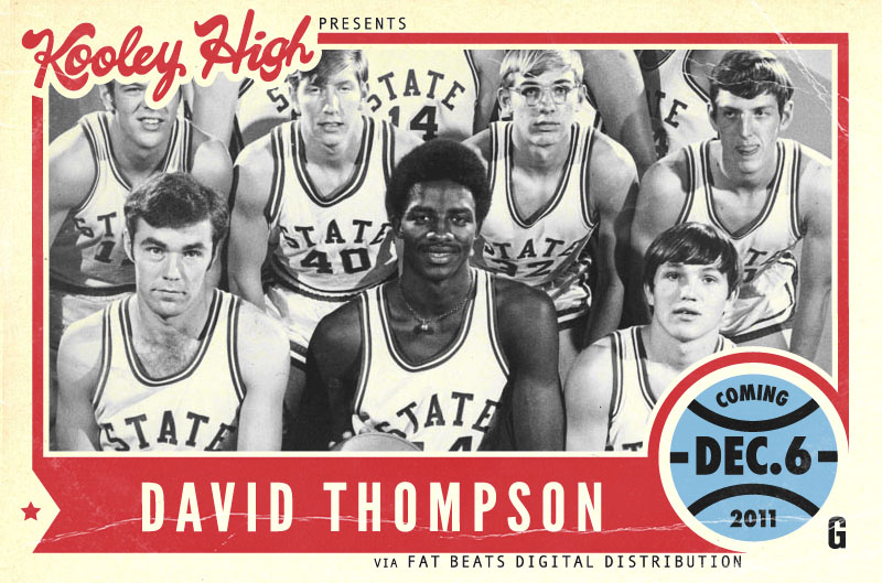 godfatherofsol: Workin on some promo stuff for Kooley High's new project David Thompson Look out for this one.  December 6th.  We win Championships.